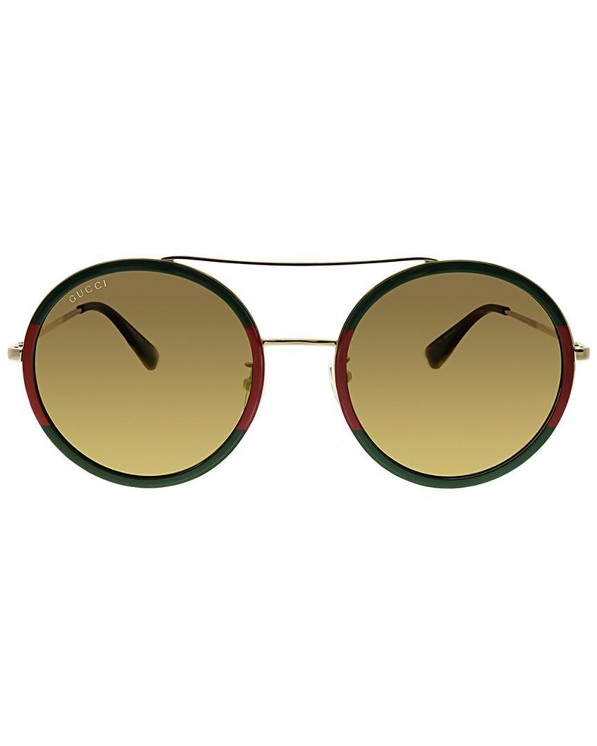 0bb7b395c6 Lyst - Gucci Women s Round 56mm Sunglasses