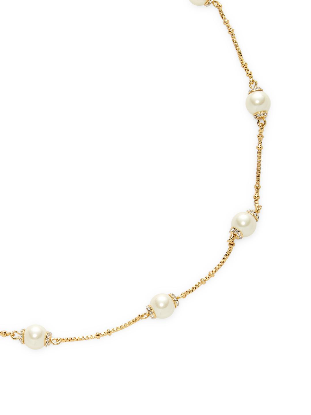 Kate Spade Gold Scatter Necklace in Metallic