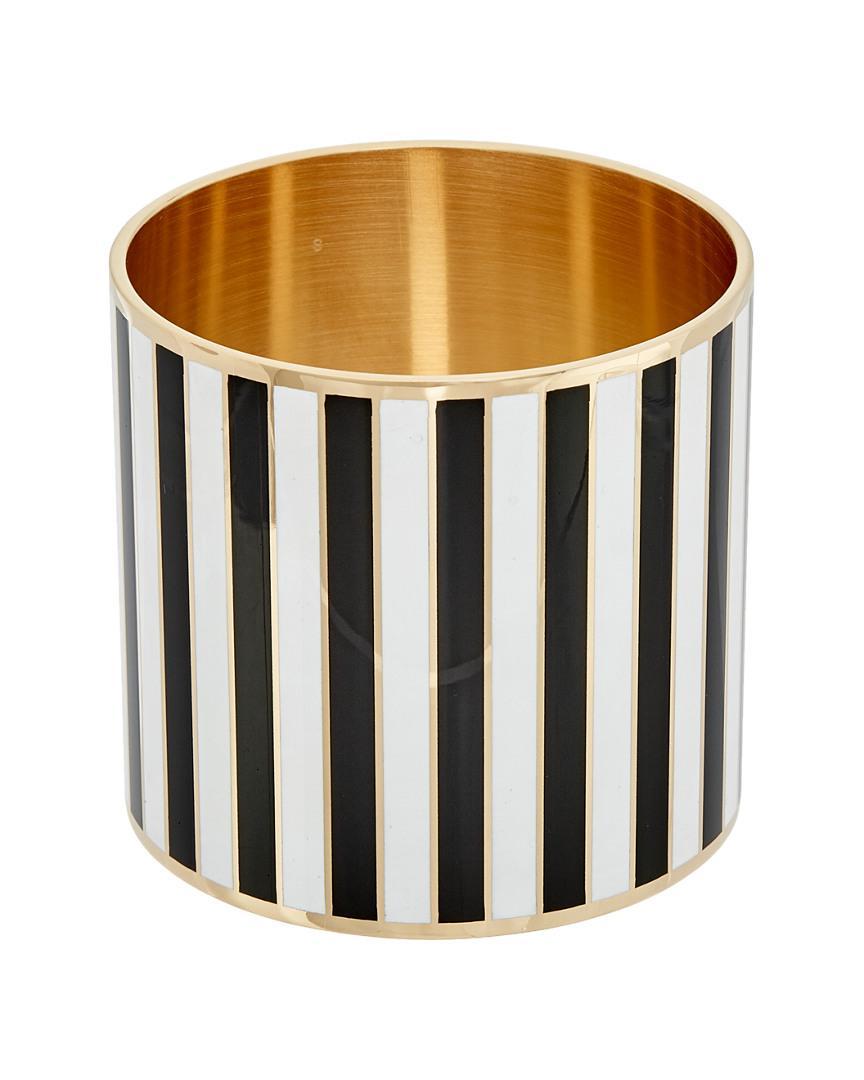 Givenchy Extra Large Striped Enamel Bangle