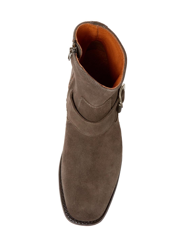 Frye Hannah Engineer Leather Boot in Smoke (Brown)