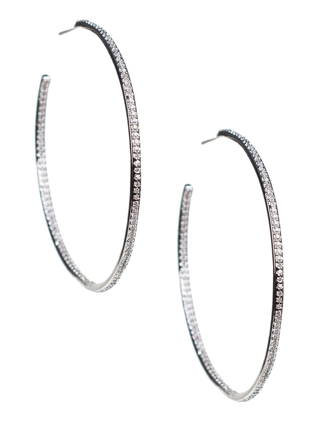 2c8c6254c5f4c CZ by Kenneth Jay Lane Cubic Zirconia Pave Inside Outside Hoop ...