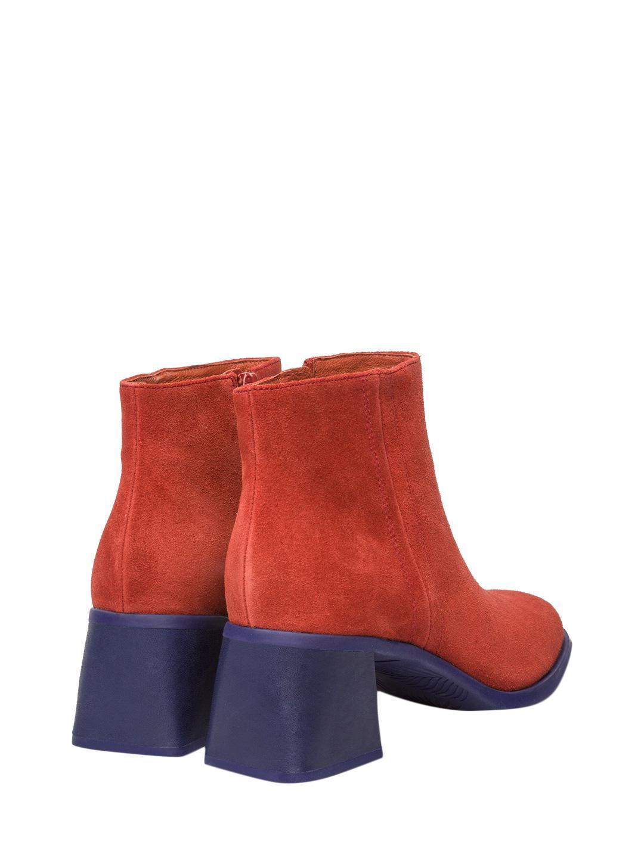Camper Karolina Leather Bootie in Red
