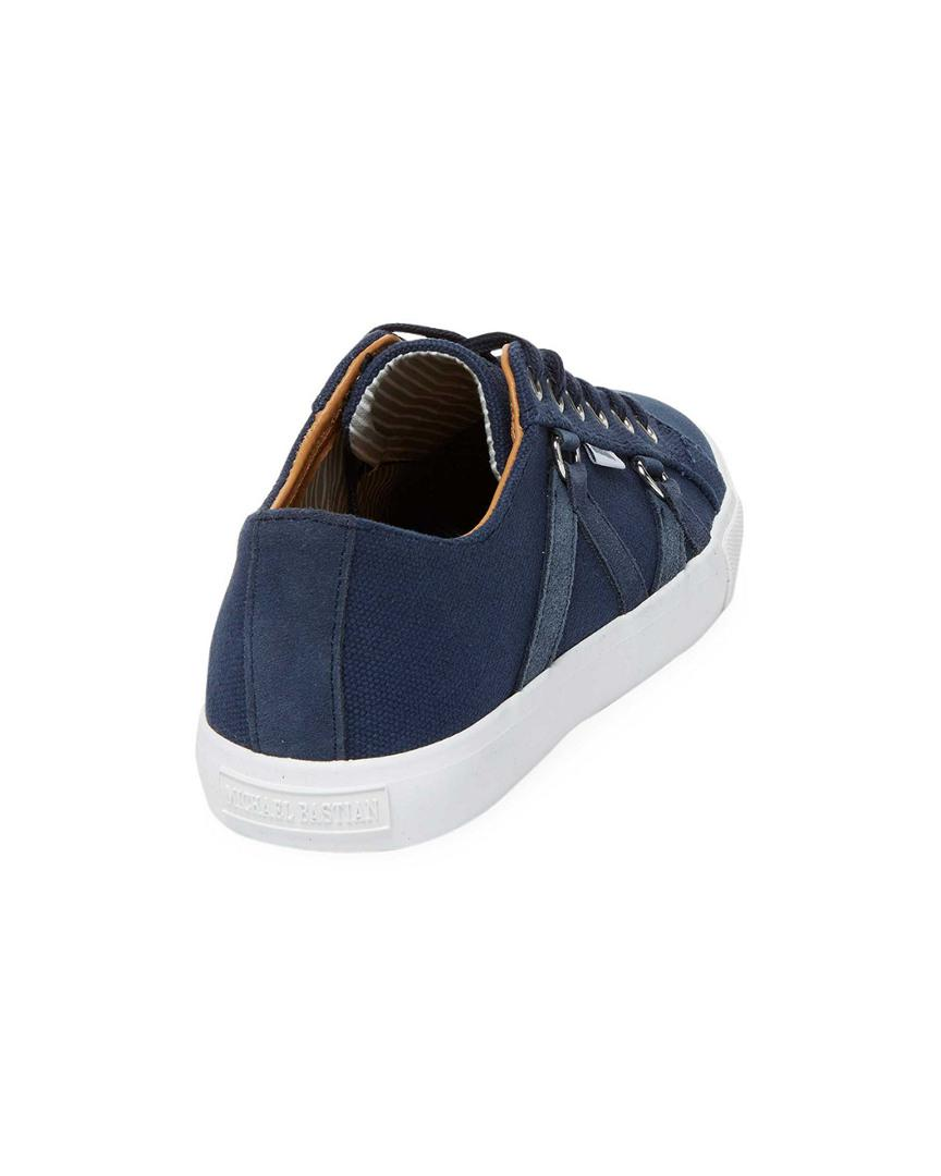 Michael Bastian Canvas Signature Low Top Sneaker (men) in Navy (Blue) for Men