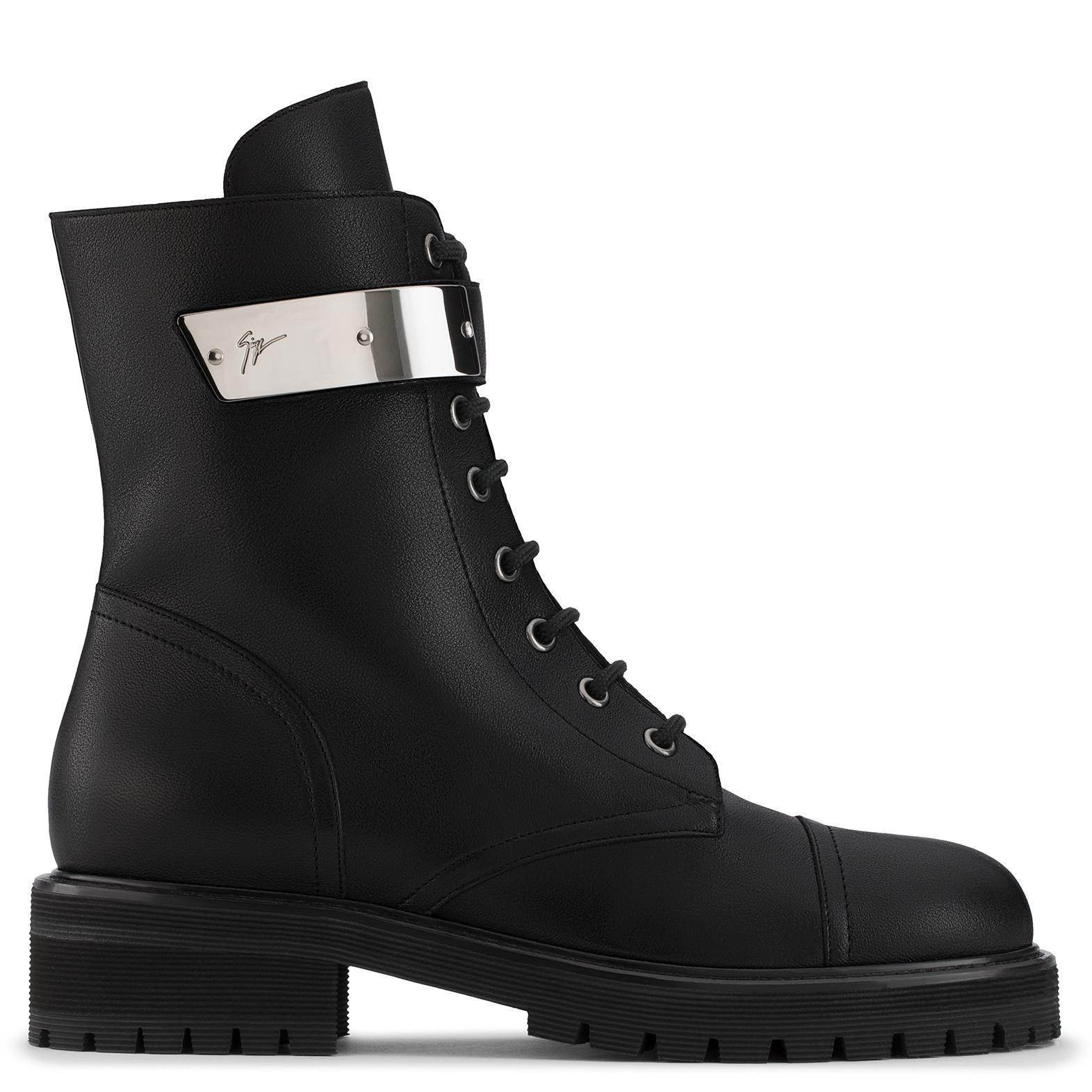 Giuseppe Zanotti Calfskin leather boot with silver-plated metal ALEXA jdQAuoWYpF