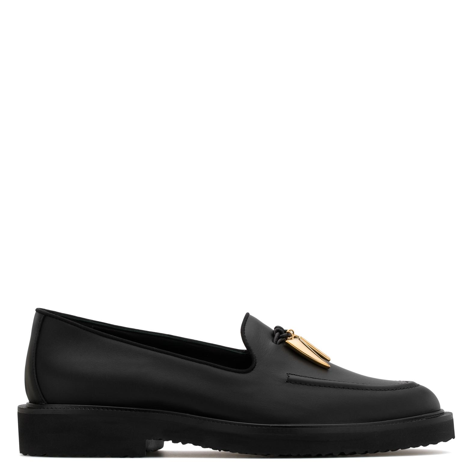 Giuseppe Zanotti Calf leather shoes with gold 'shark tooth' accessory FRED sxVWI