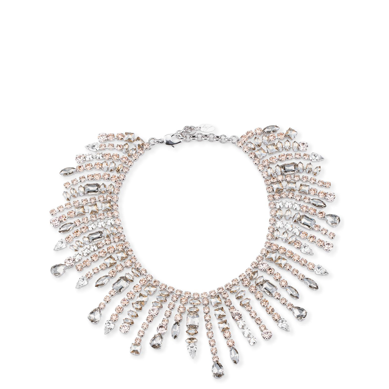 Giuseppe Zanotti Metal necklace with multicolor crystals SORAYA QcyewLEmk