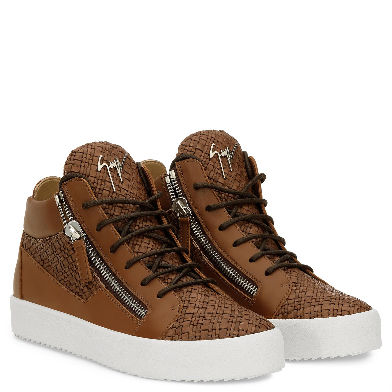 Giuseppe Zanotti Leather Clay in Brown for Men