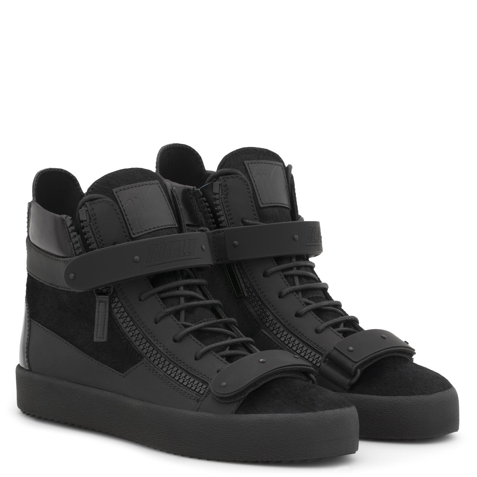 Giuseppe Zanotti Fur Coby in Black for