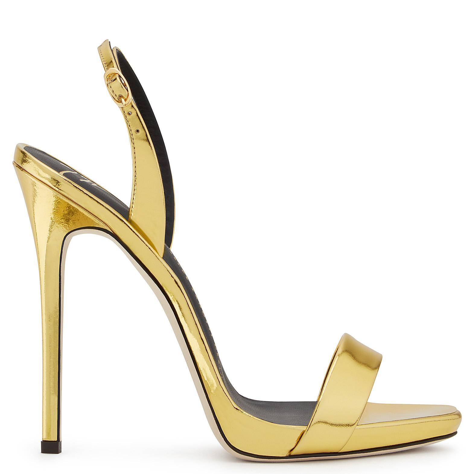 Giuseppe Zanotti Mirrored leather sandal SOPHIE MXpe4UNpM