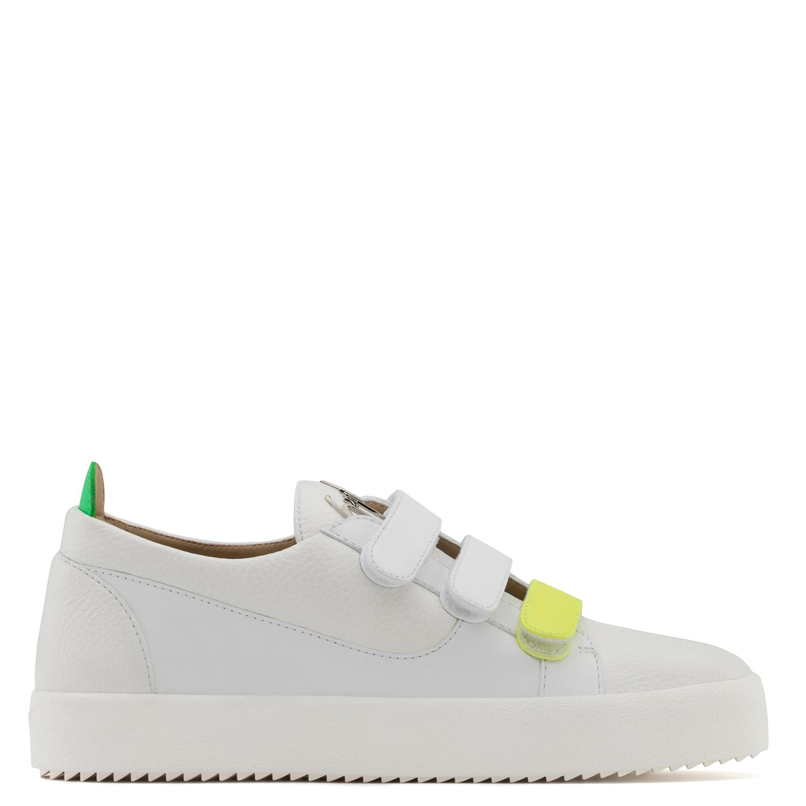 Giuseppe Zanotti Calfskin leather low-top sneaker with three straps JODY 5e45fN1oN