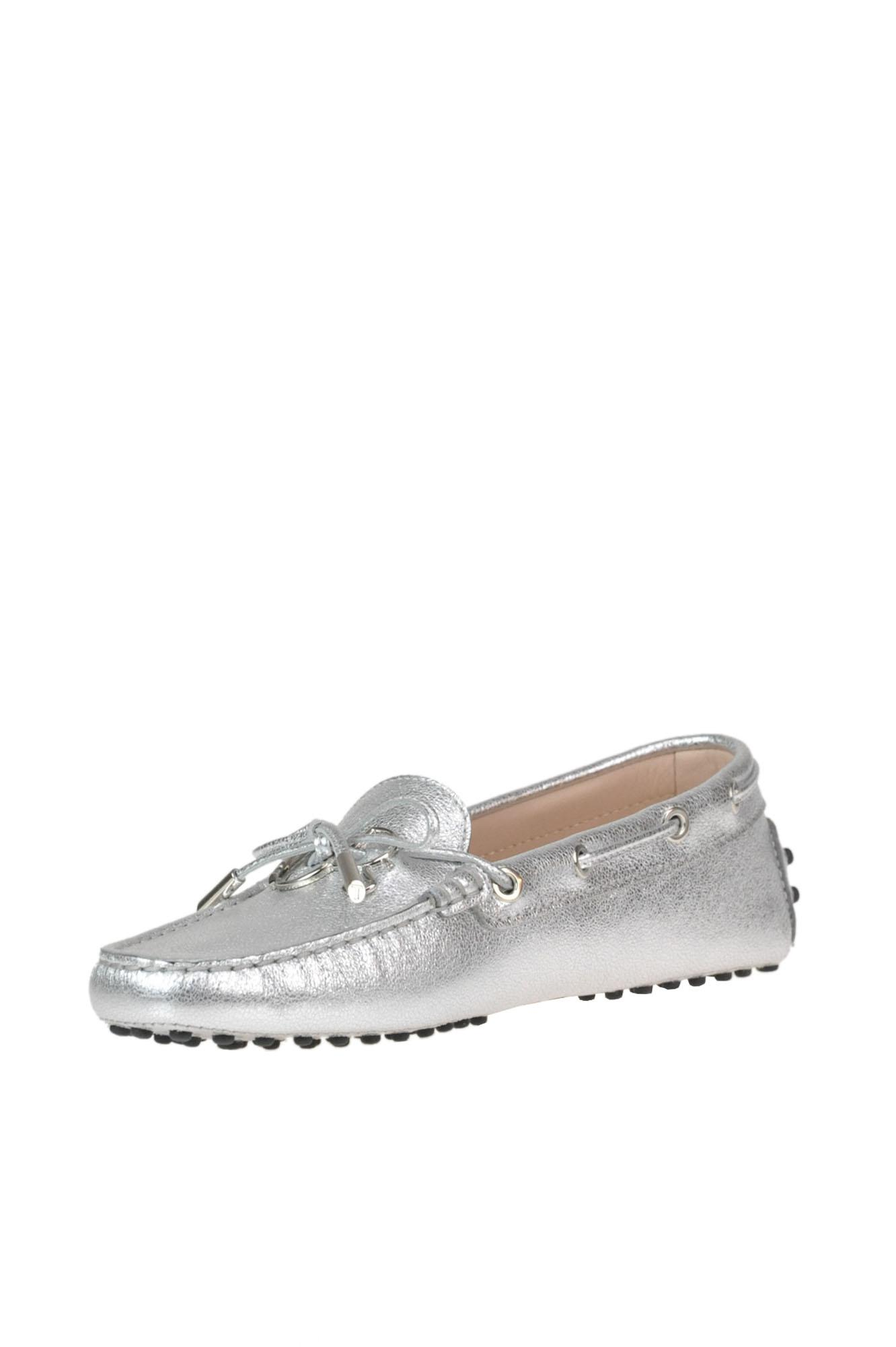 c44ca70a9a3 Tod s -  heaven  Metallic Effect Leather Loafers - Lyst. View fullscreen
