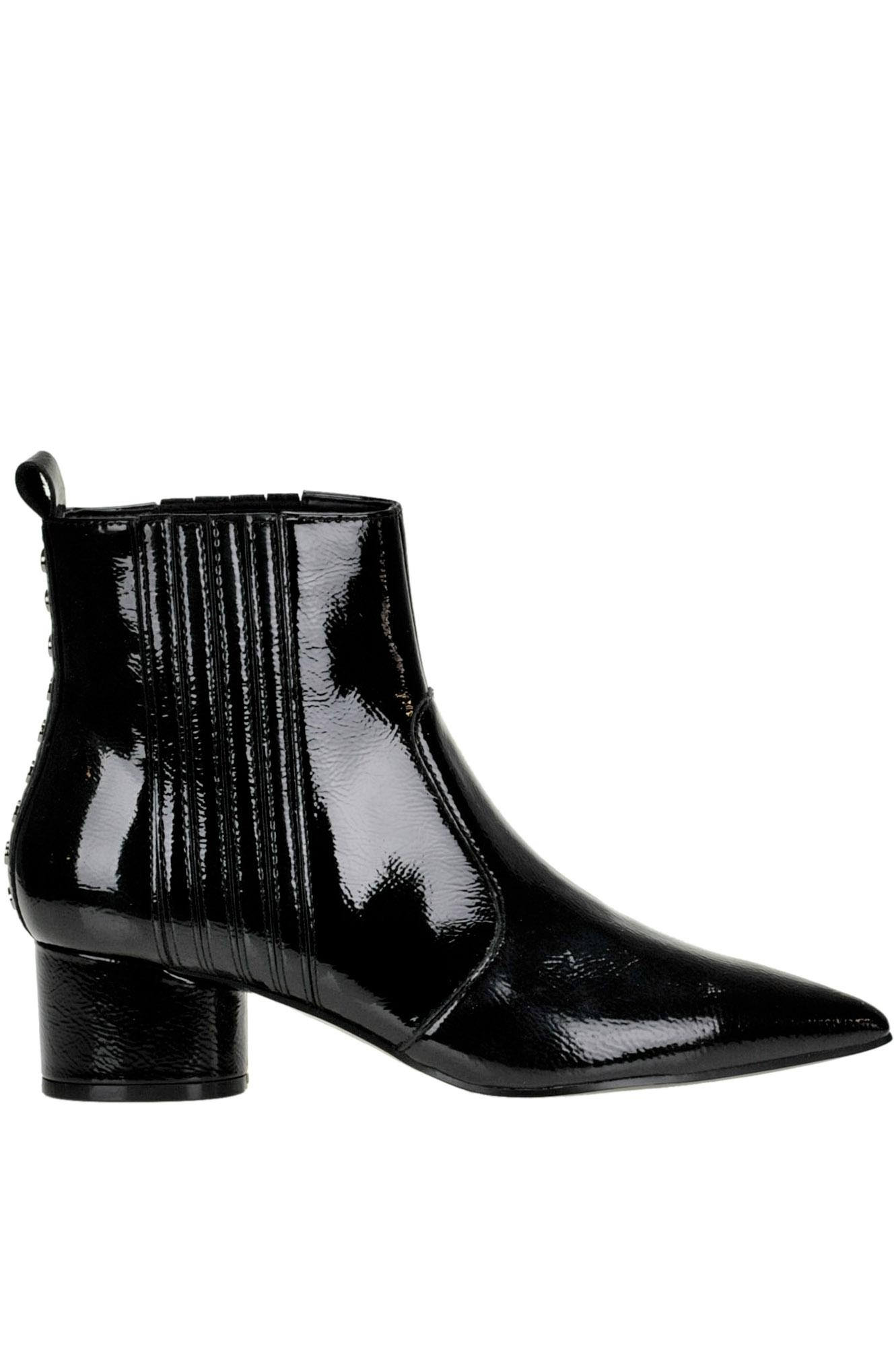 Kylie Laila Patent-leather Ankle-boots