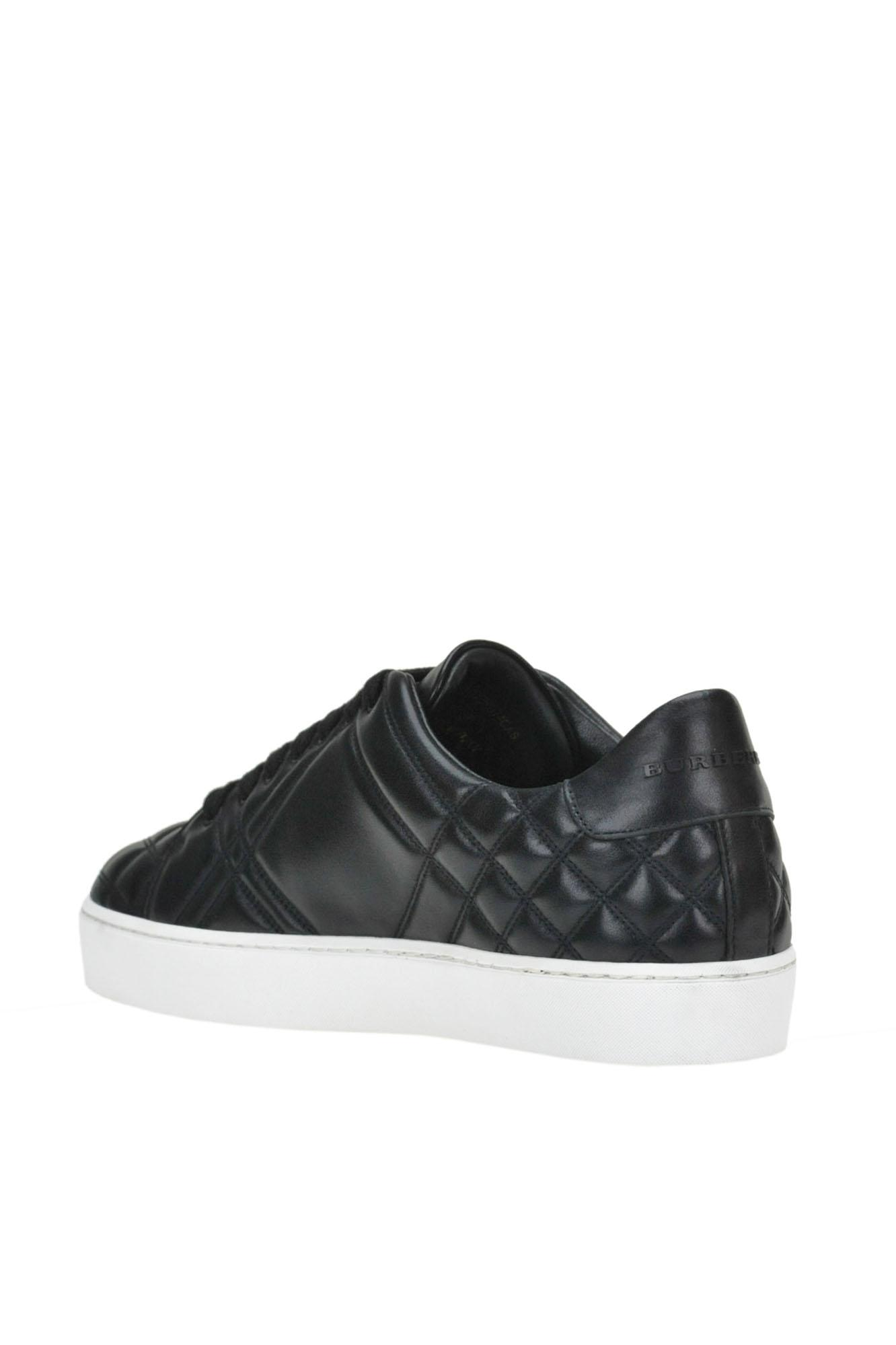 Burberry Quilted Leather Sneakers in Black