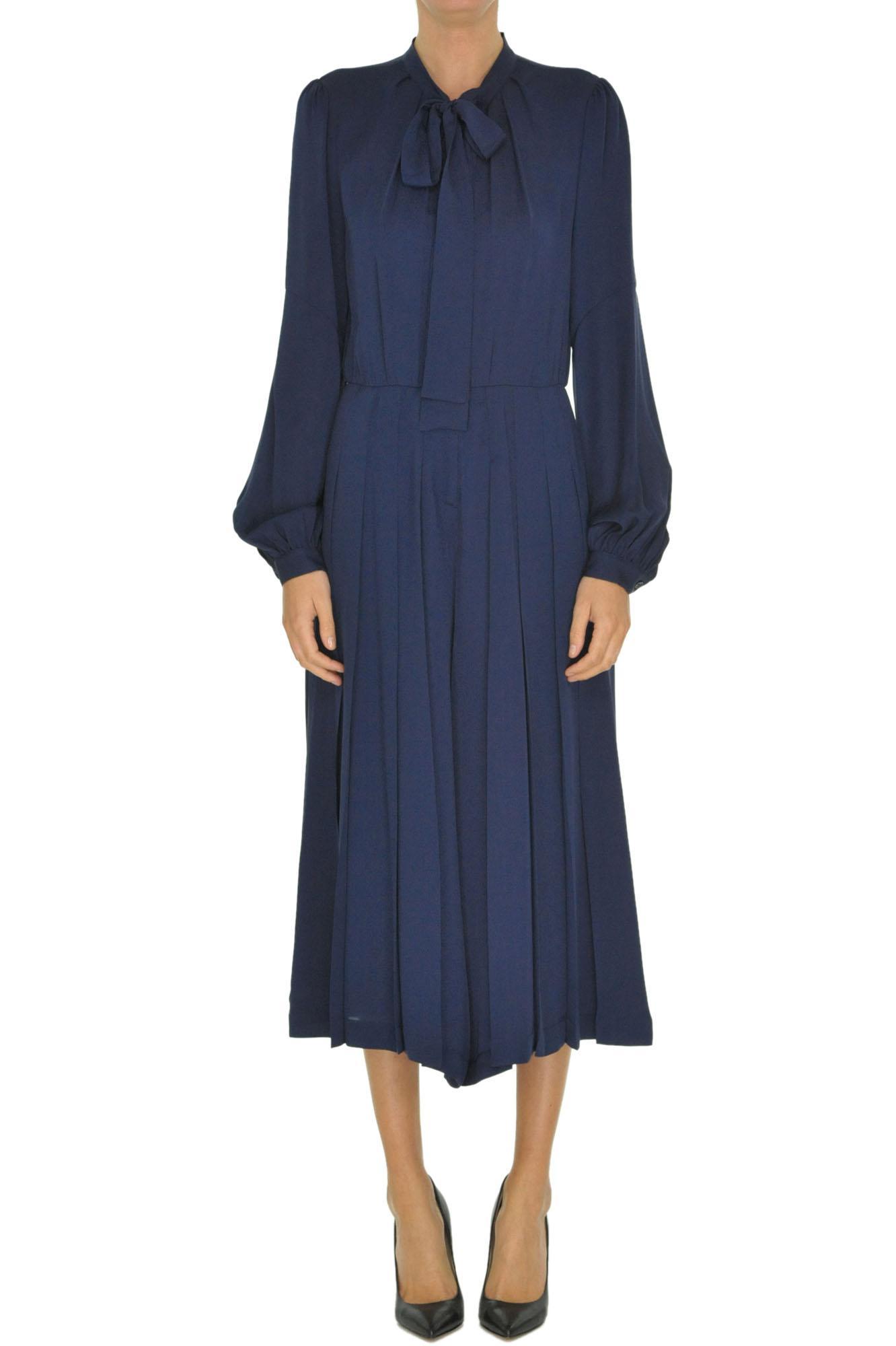 979879b0bcf9 Lyst - MICHAEL Michael Kors Crepè Silk Jumpsuit in Blue