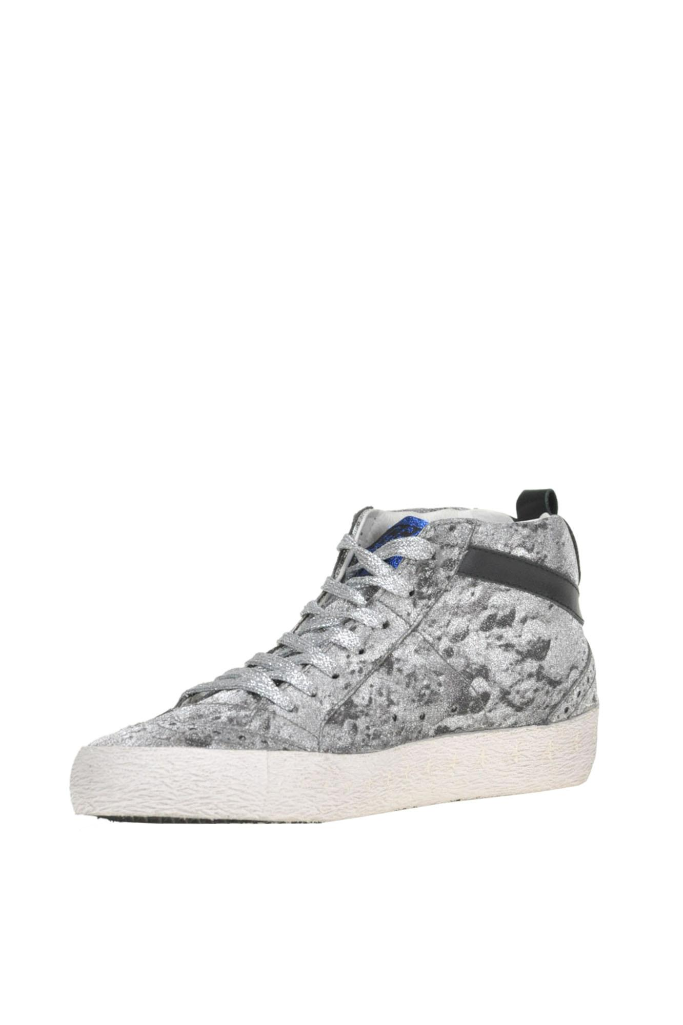 Golden Goose Deluxe Brand Leather Mid Star Limited Edition Sneakers in Silver (Metallic)