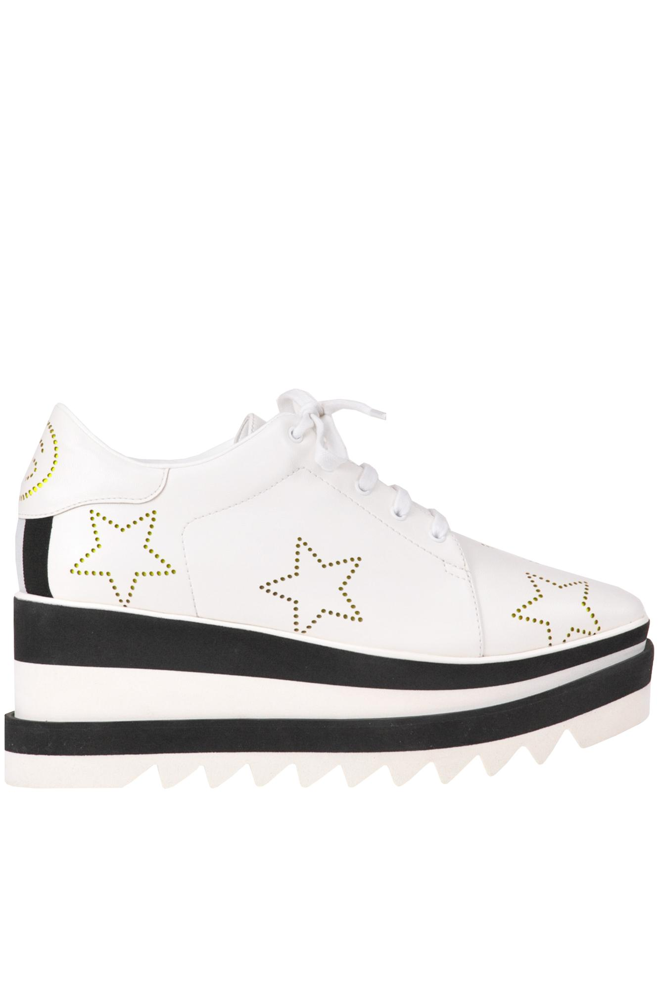 1ef3a9d6b18d Lyst - Stella McCartney Elyse Platform Lace-up Shoes in White