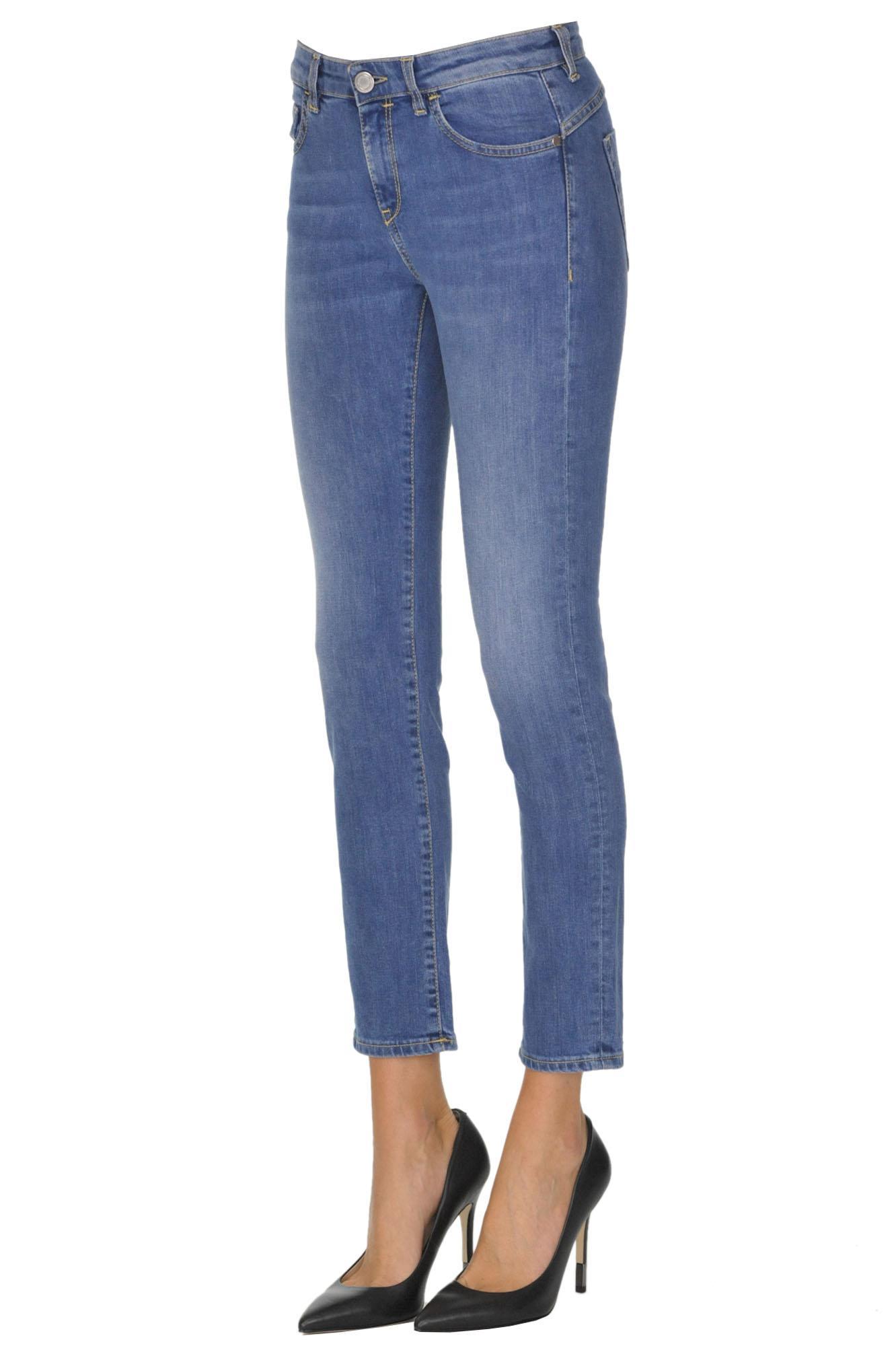 fea8b3b9080 Pinko - Blue Sheila Cropped Jeans - Lyst. View fullscreen
