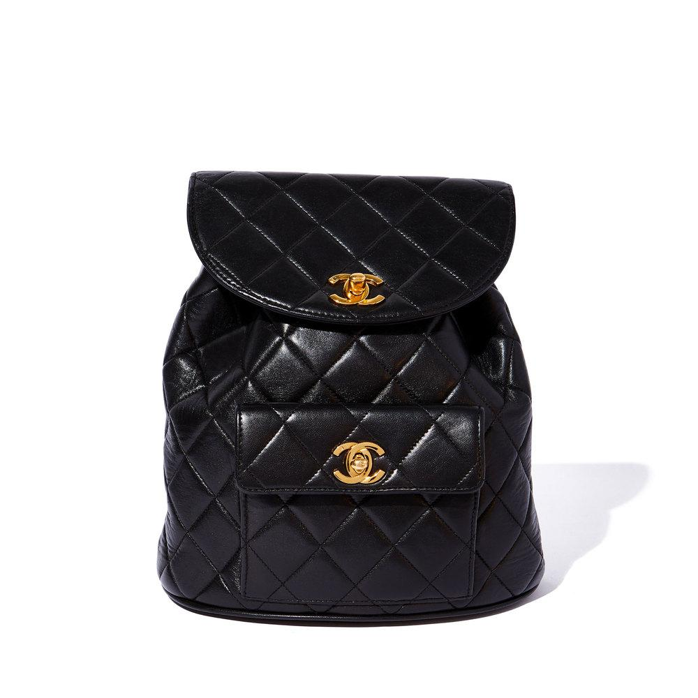 f4376625a21b Lyst - What Goes Around Comes Around Chanel Vintage Lambskin ...