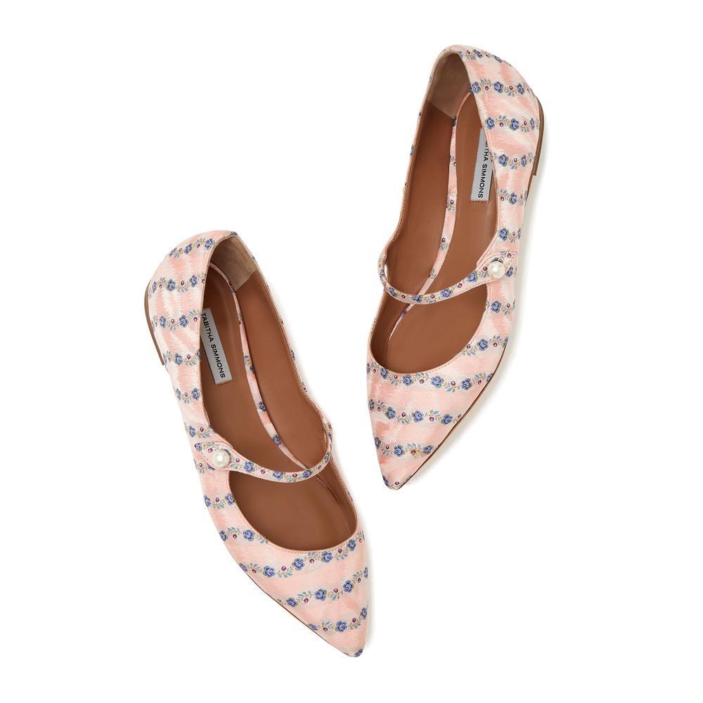 Hermione Pearl Flat Shoe