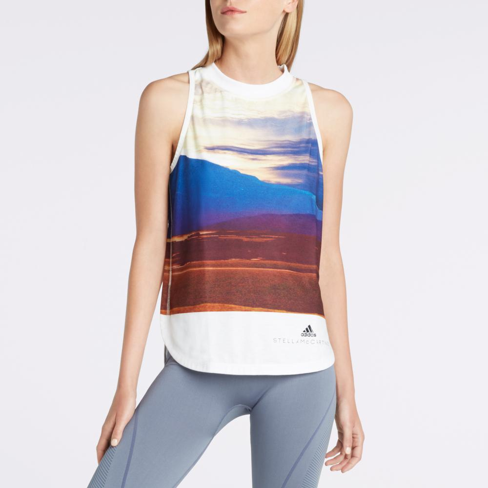 013ad96c43cda Lyst - adidas By Stella McCartney Nature Muscle Tank in White