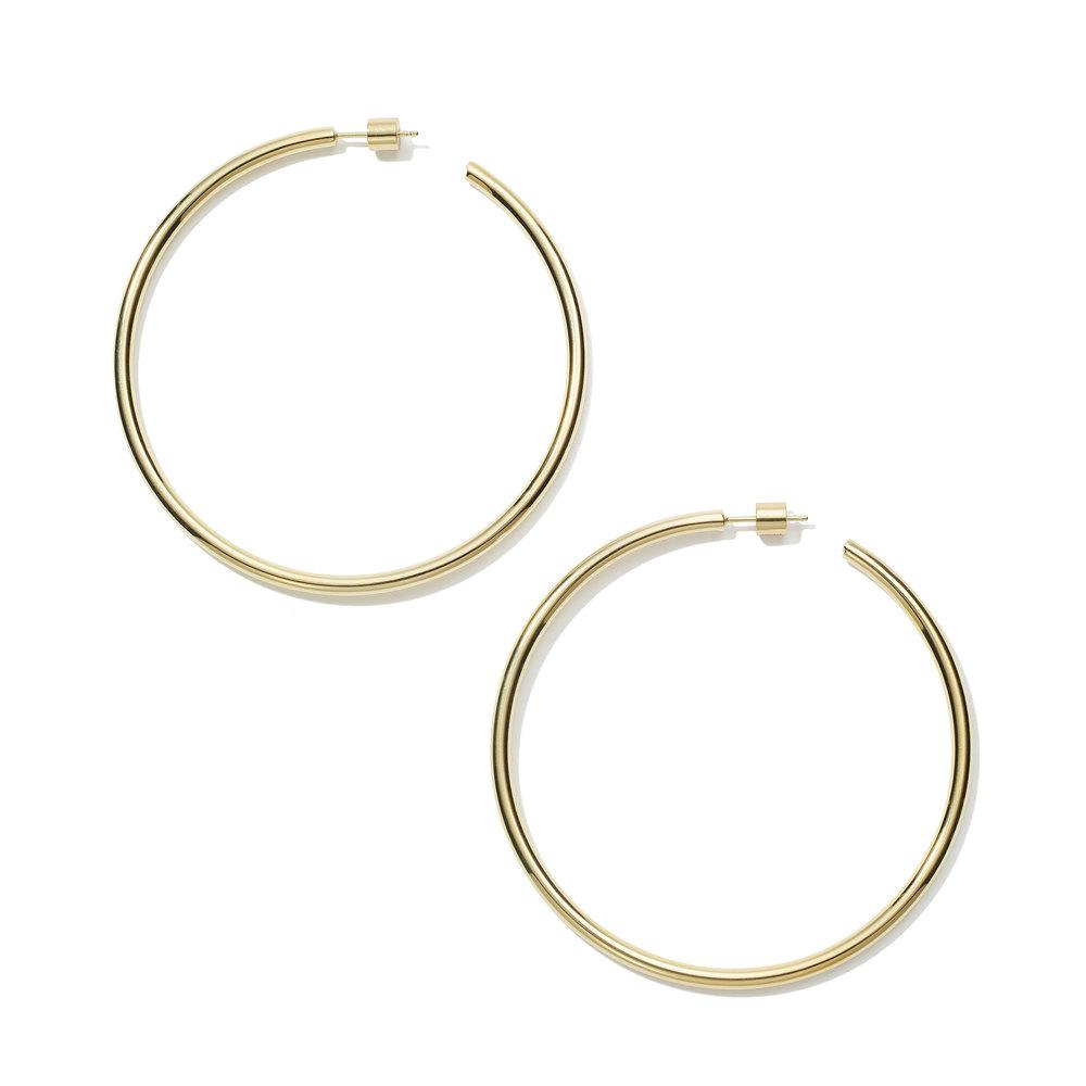 Clic Hollow Hoop Earrings 2 5
