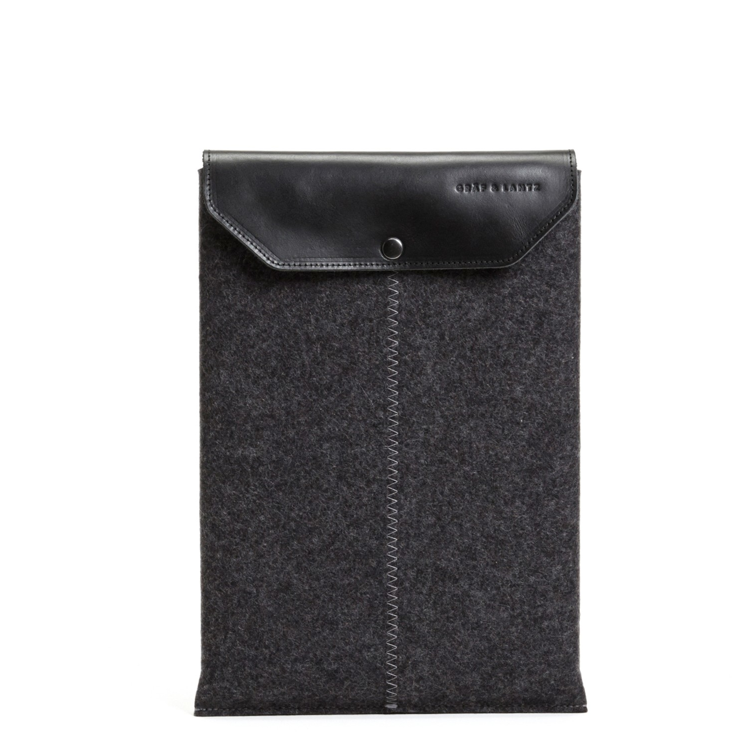 Graf lantz macbook pro sleeve charcoal 13 in black lyst for Housse macbook air 13 paul smith