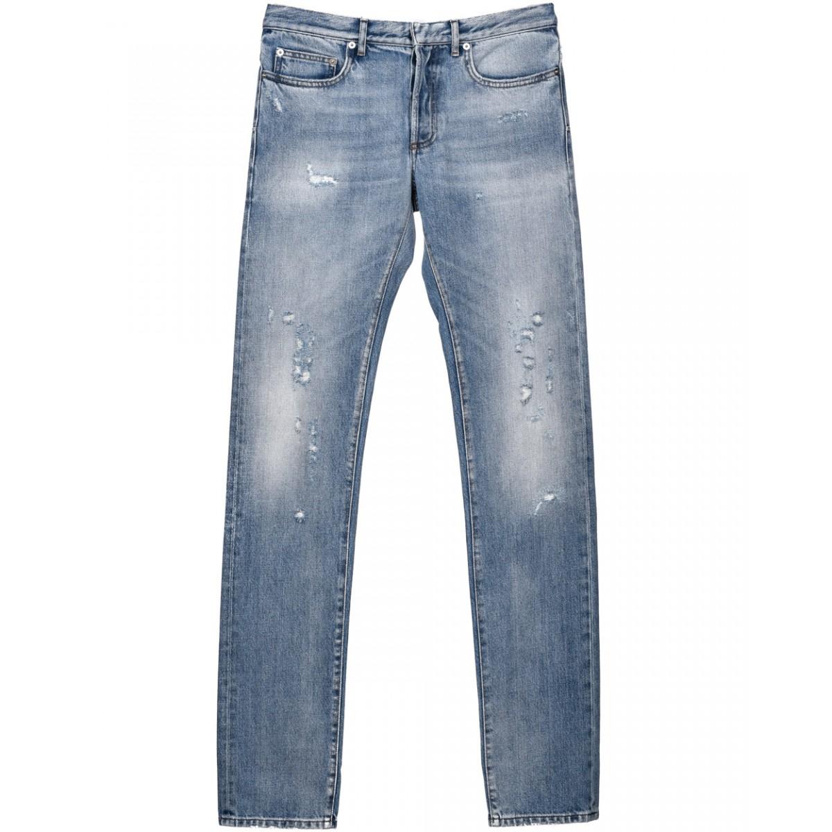 dior homme destroyed jeans in blue for men lyst. Black Bedroom Furniture Sets. Home Design Ideas
