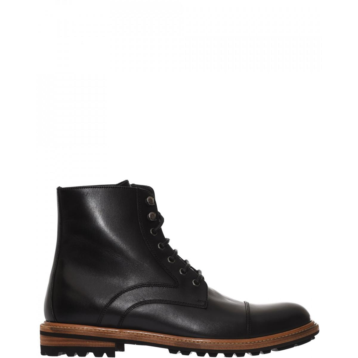 dolce gabbana lace up leather boots for lyst