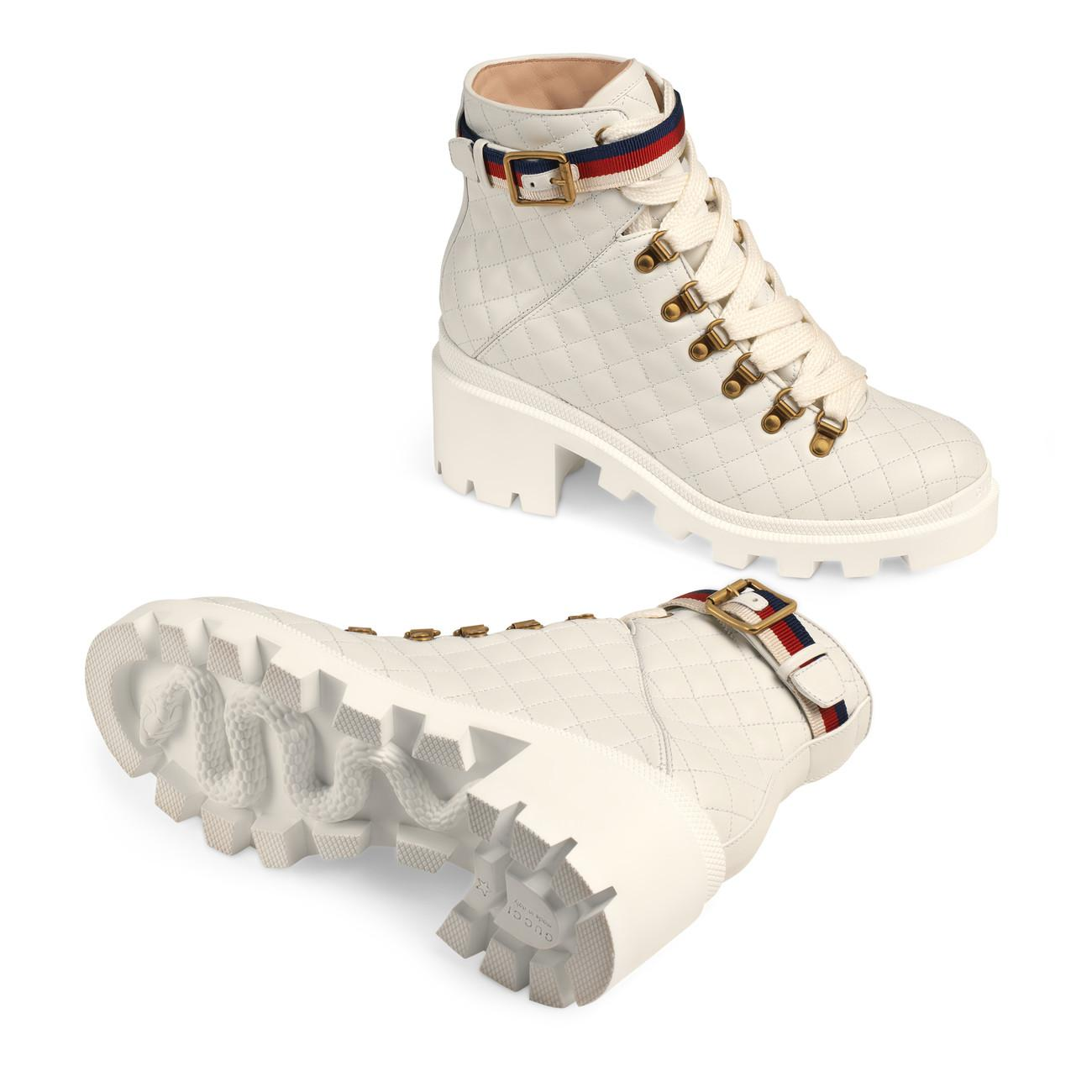 Gucci Quilted Leather Ankle Boot With