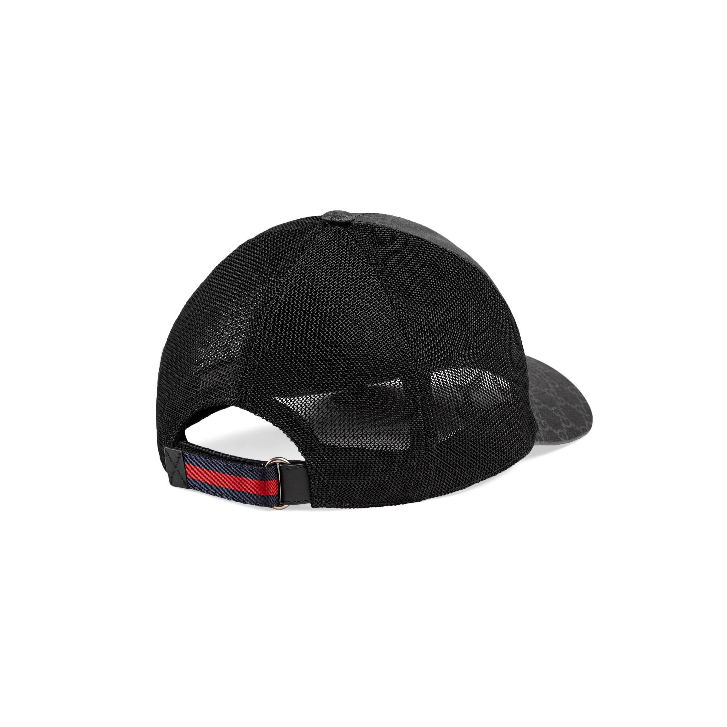 7025fb9cbf5 Gucci - Black Kingsnake Print GG Supreme Baseball Hat for Men - Lyst. View  fullscreen