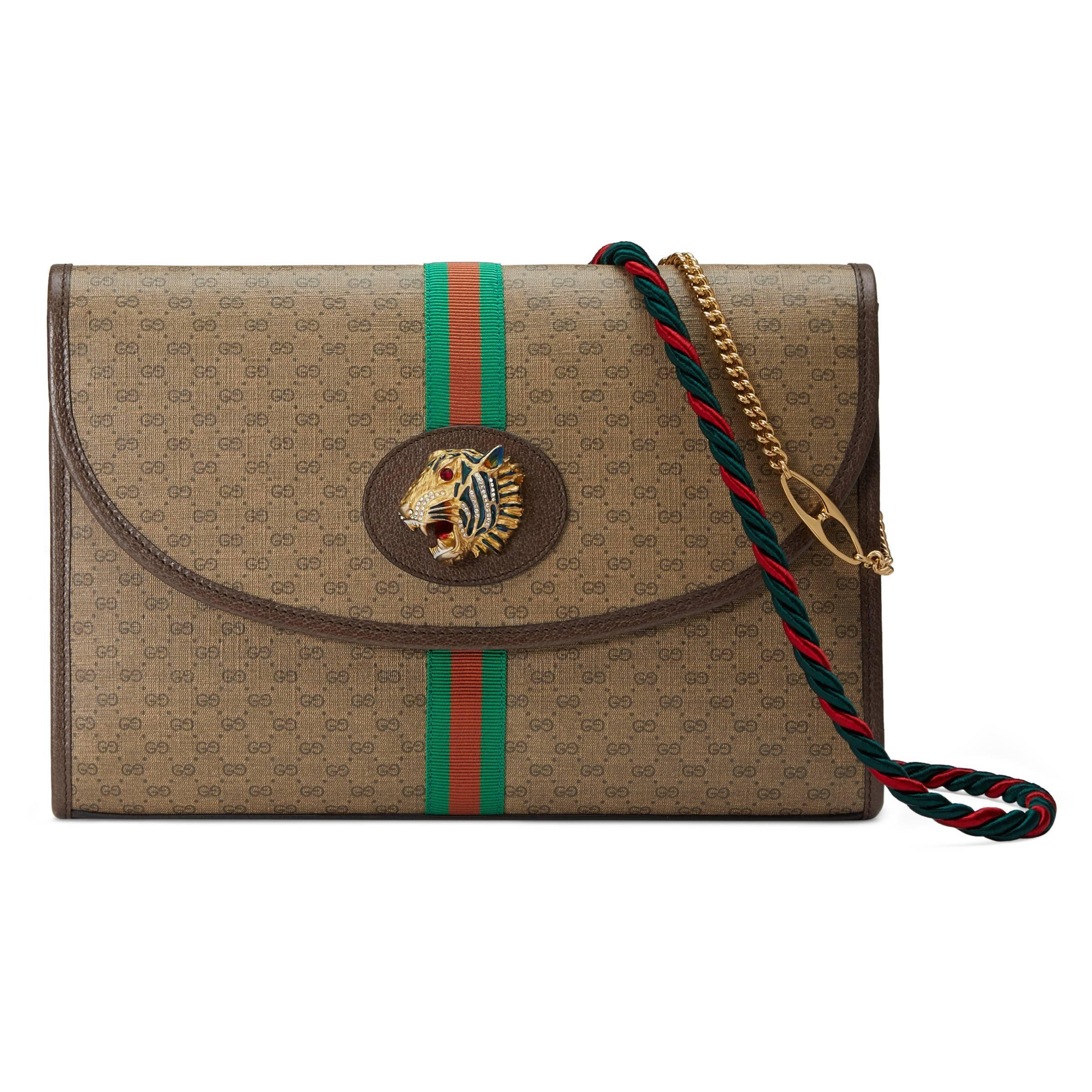 7ec86536099 Lyst - Sac à épaule Rajah GG taille moyenne Gucci en coloris Neutre