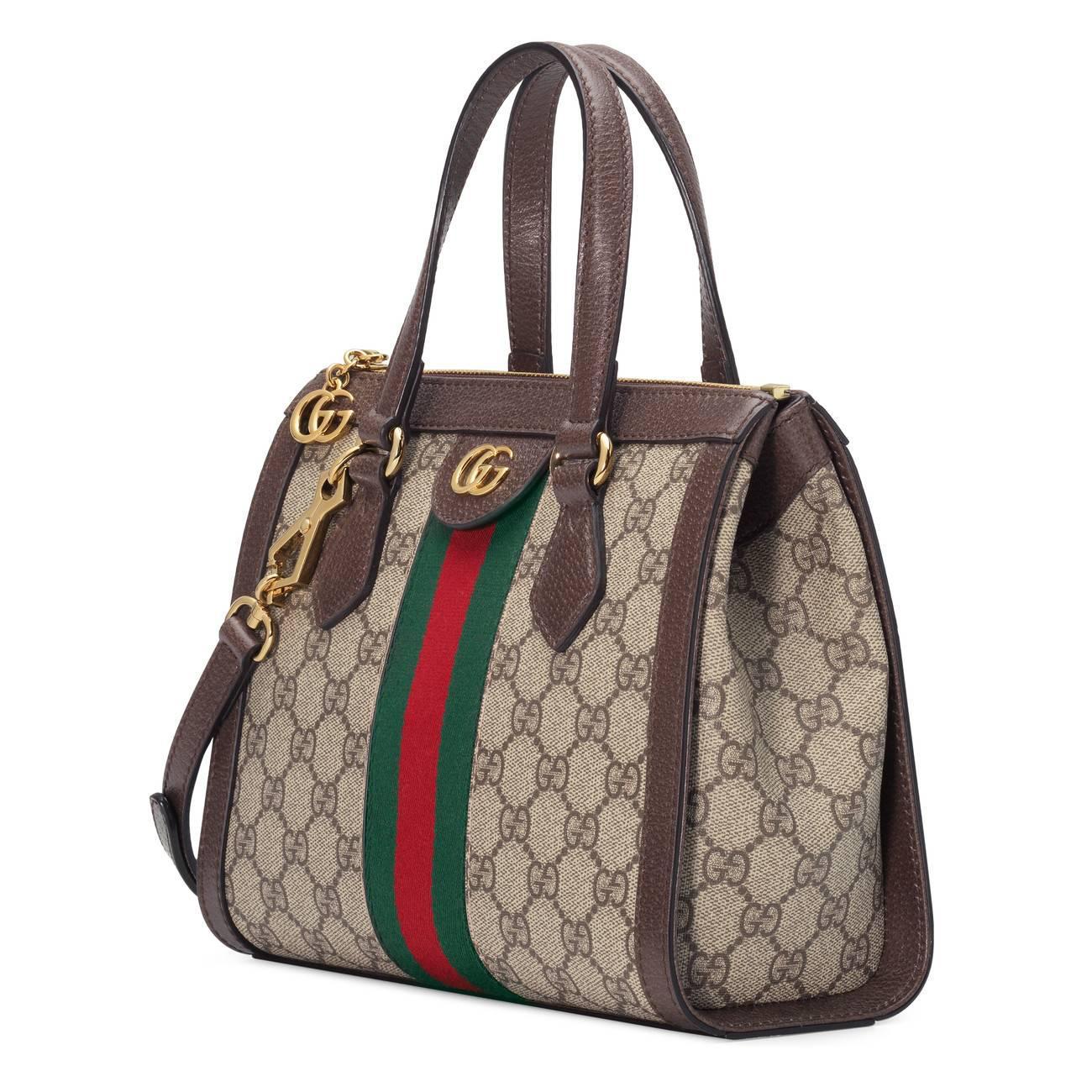 a0b1a34c2587 Gucci - Green Ophidia Small GG Tote Bag - Lyst. View fullscreen