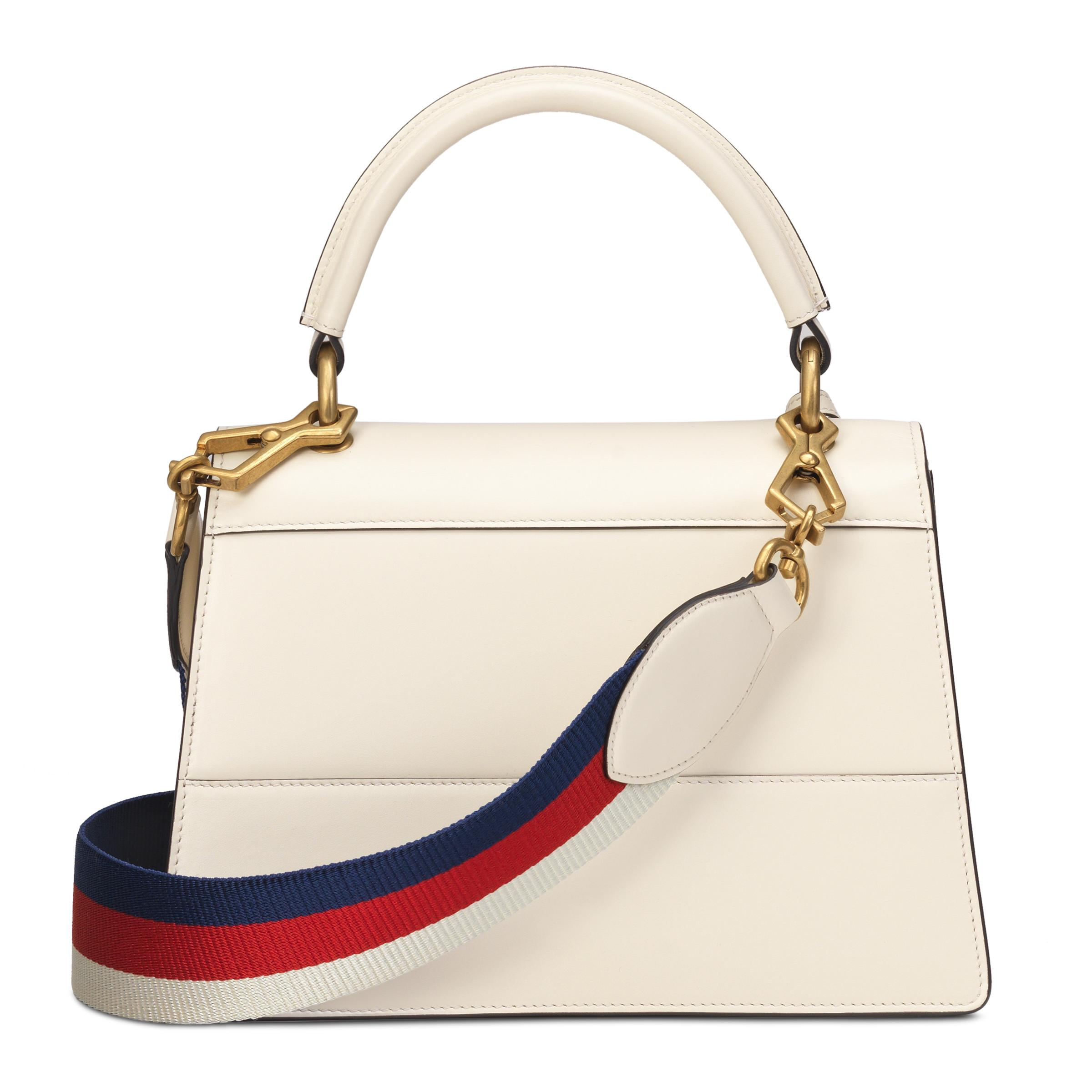 6acdca20b Gucci Queen Margaret Small Top Handle Bag in White - Lyst