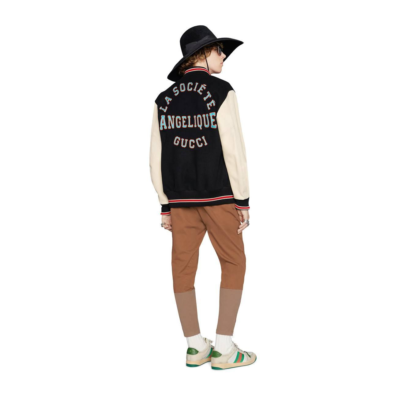 747402fbb Gucci - White Bomber Jacket With Patches for Men - Lyst. View fullscreen