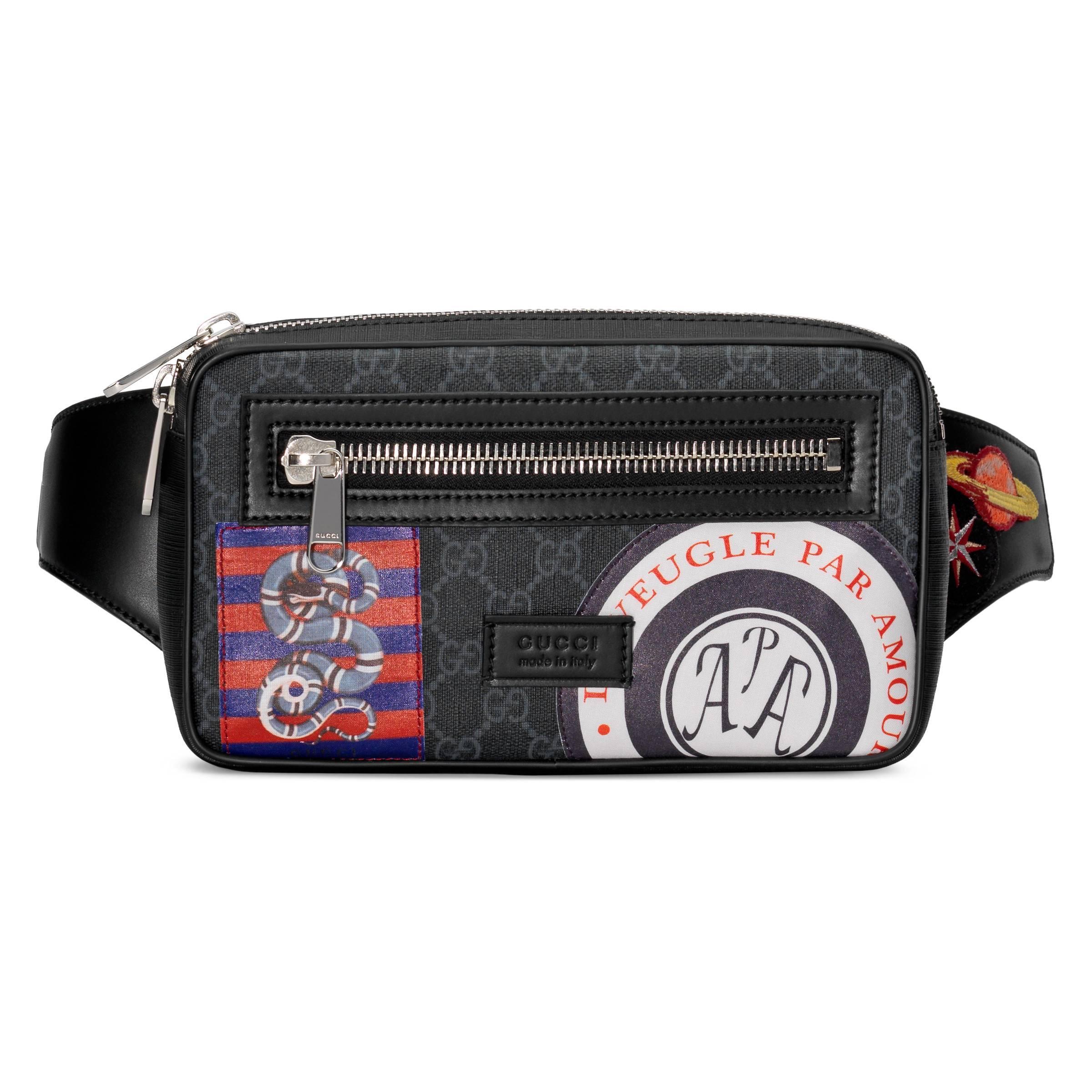 3fec04c74 Gucci - Black Bolsa con Cinturón Night Courrier GG Supreme Suave for Men -  Lyst. Ver en pantalla completa