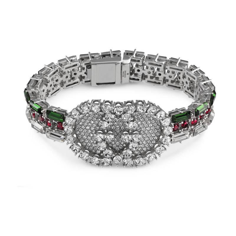 Gucci Crystal Web bracelet ESUJN