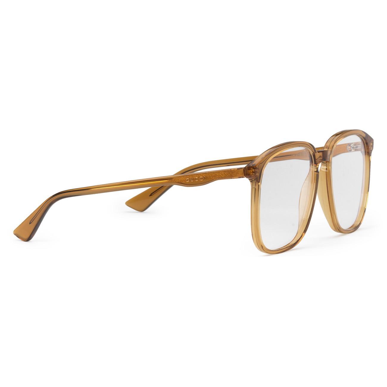 3a6fab0458ca8 Lyst - Gucci Square-frame Acetate Glasses in Orange