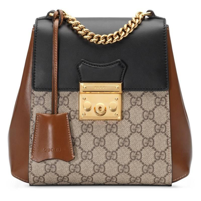 Gucci Padlock Gg Supreme Backpack in Brown - Lyst 237aaf5a0aa5d