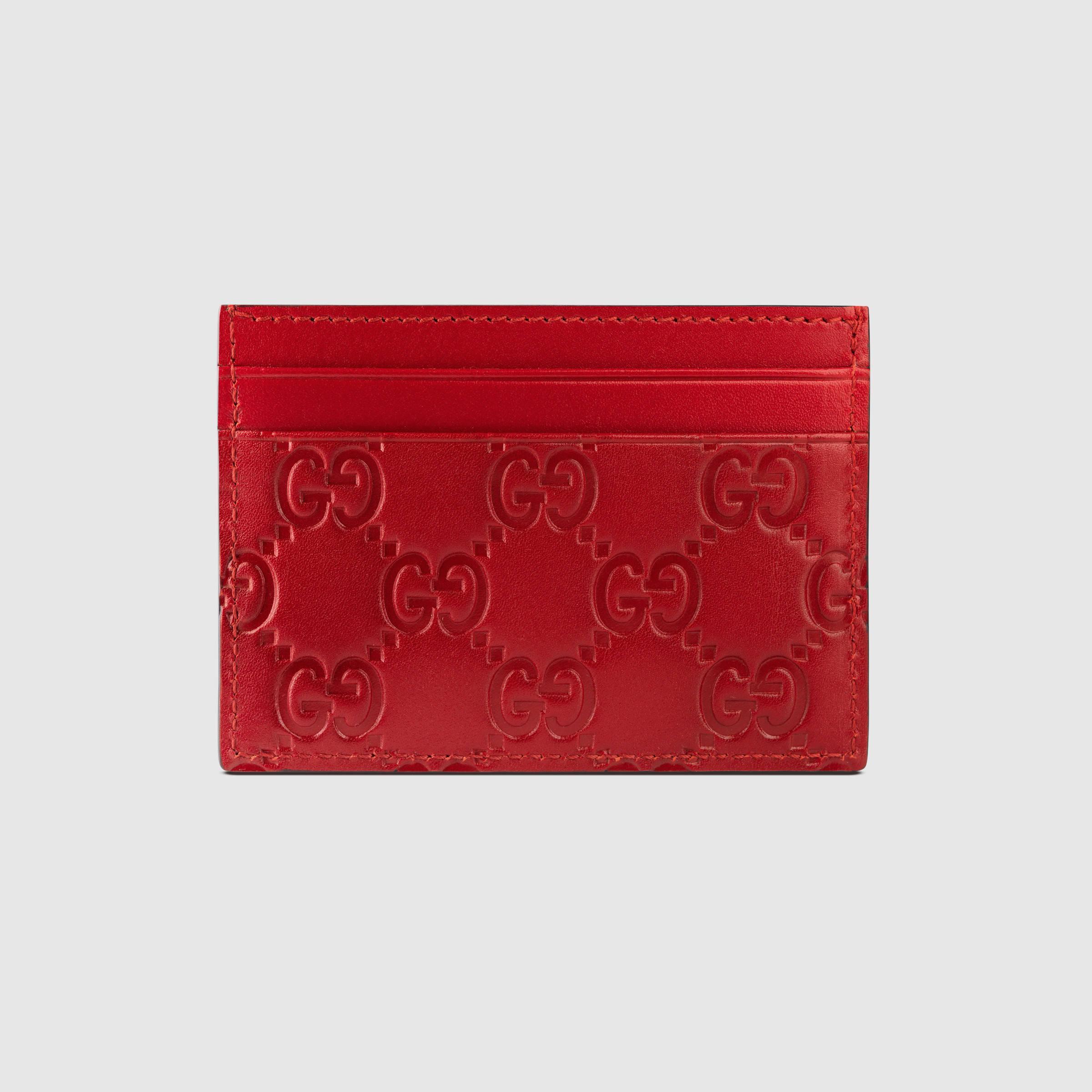 info for ae981 dfa61 Gucci Multicolor Signature Leather Card Case for men