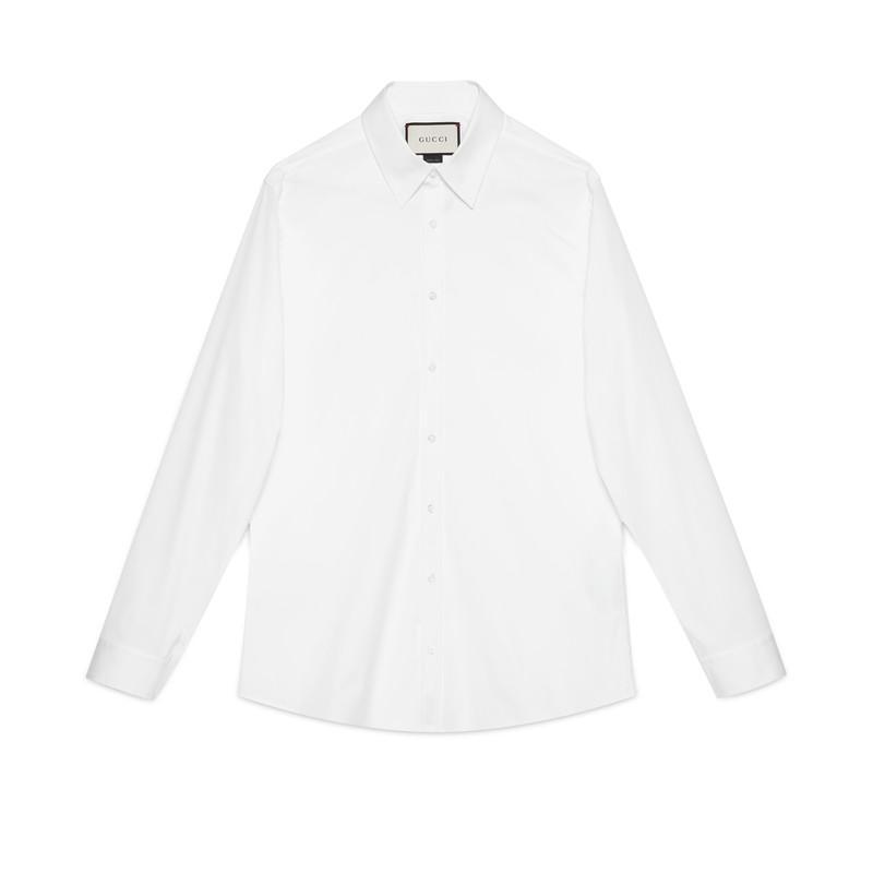 6be1d19330 Men's White Cotton Poplin Shirt