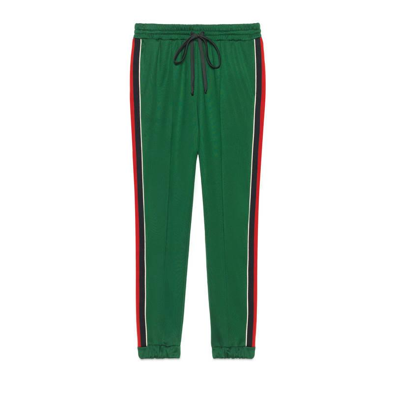 18dc2e9e Gucci Green Technical Jersey Jogging Pant
