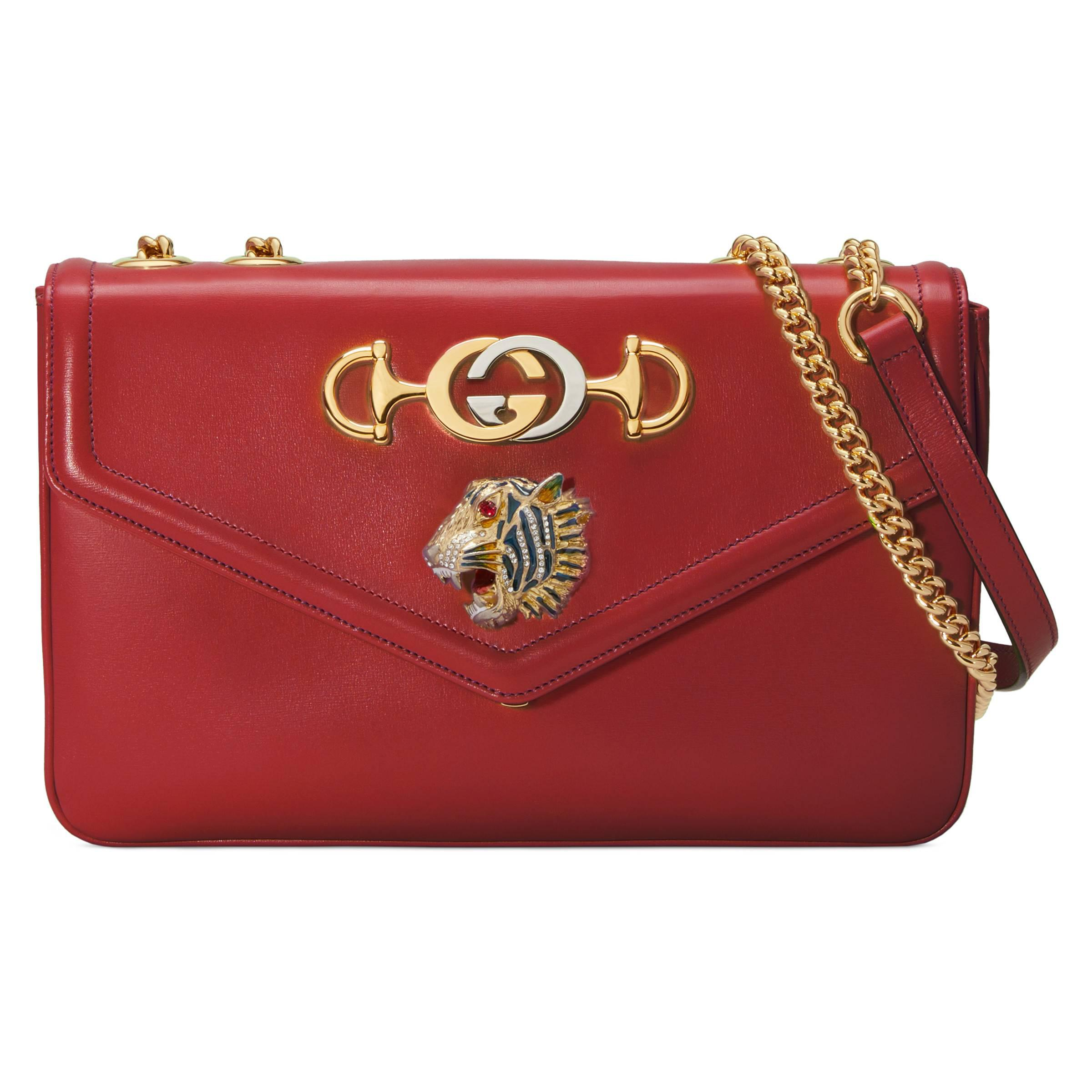 d7a25858744 Gucci - Red Rajah Medium Shoulder Bag - Lyst. View fullscreen
