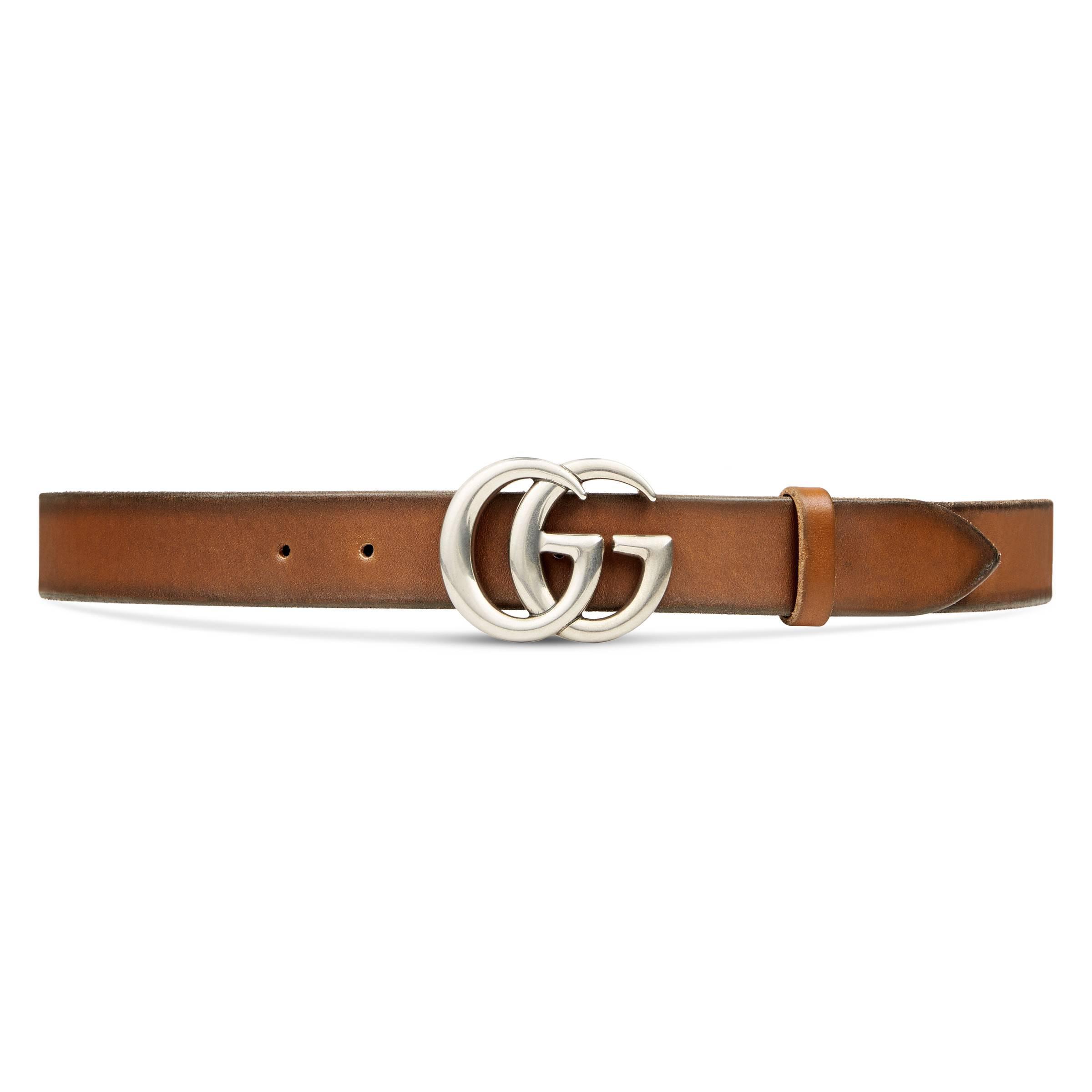 5e73468396c Lyst - Ceinture en cuir avec boucle Double G Gucci pour homme en ...