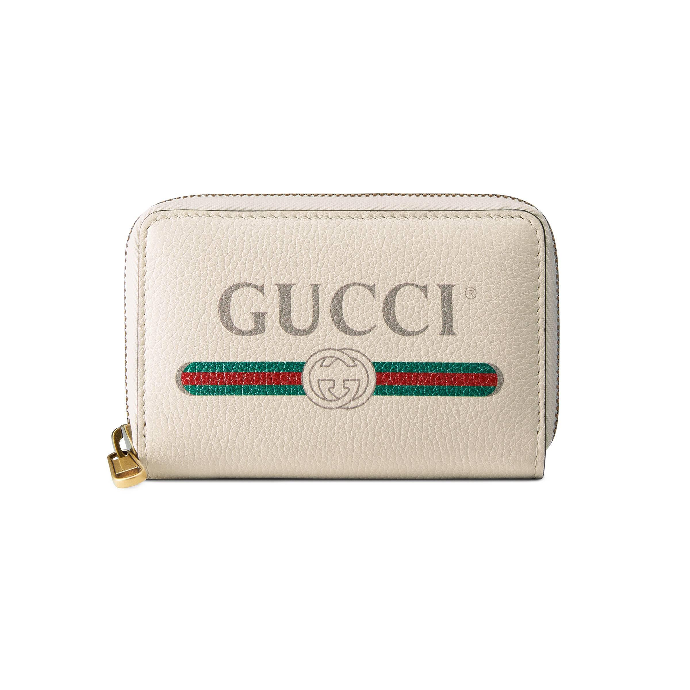 177b8d499ea Gucci - White Logo Leather Card Case - Lyst. View fullscreen