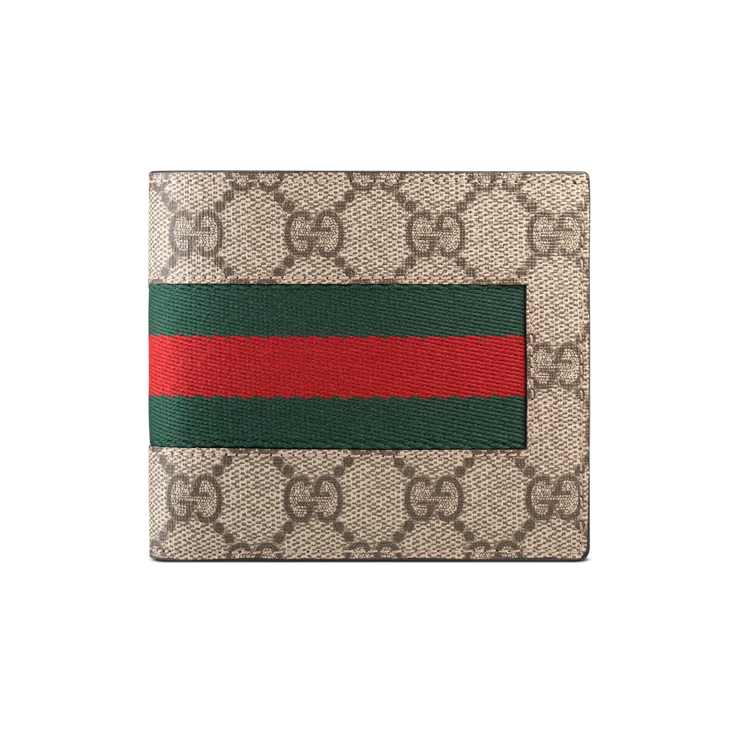 6cf7df2c5e7 Gucci Gg Supreme Coin Wallet In Natural For Men Save
