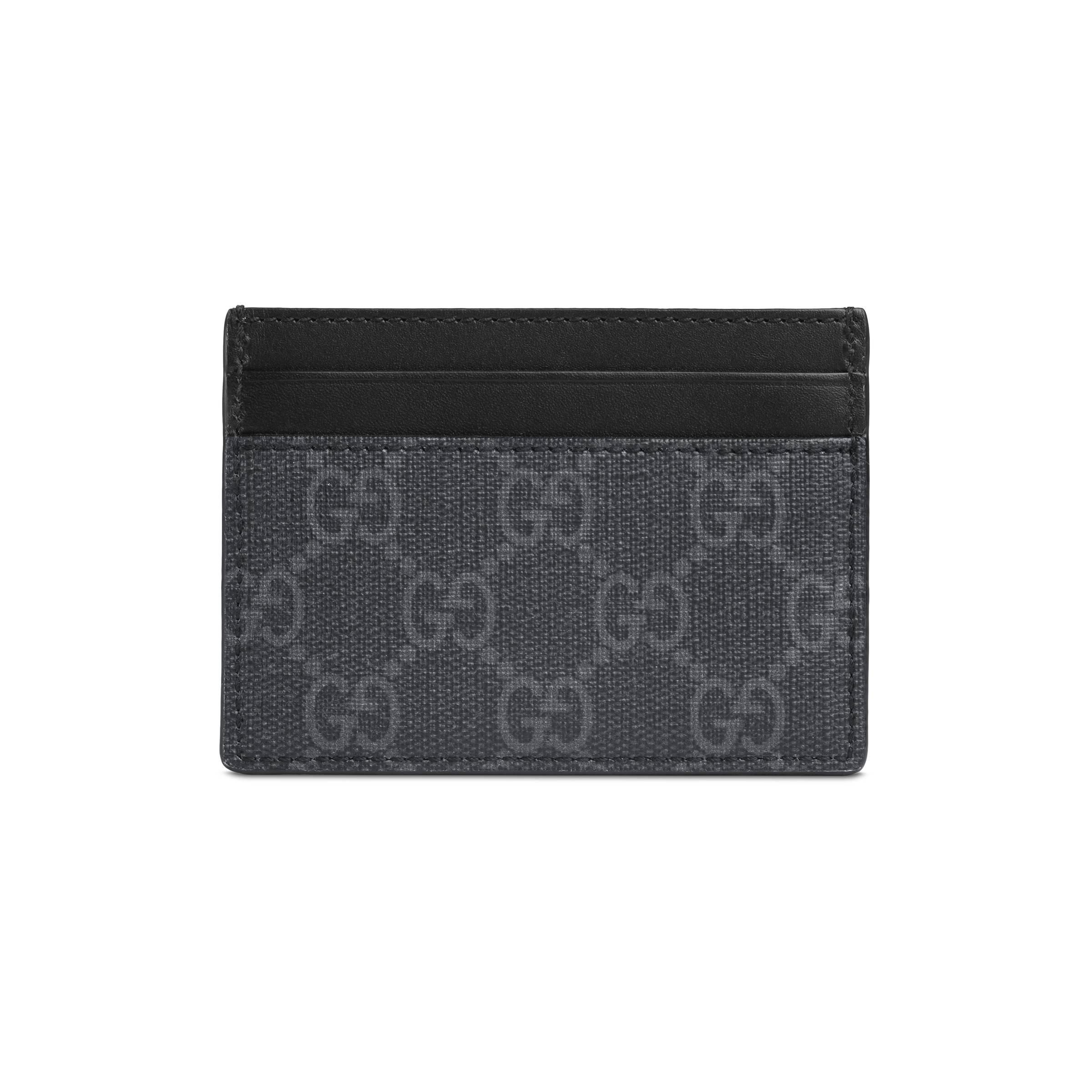 2c6b93a6d21 Gucci Kingsnake Print GG Supreme Card Case in Black for Men - Save 8 ...
