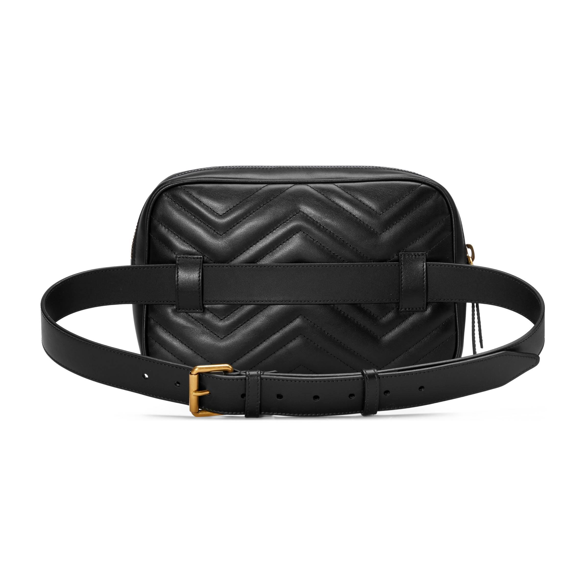 d4b6d1cfd28c7 Gucci - Black Bolsa con Cinturón GG Marmont de Matelassé for Men - Lyst.  Ver en pantalla completa