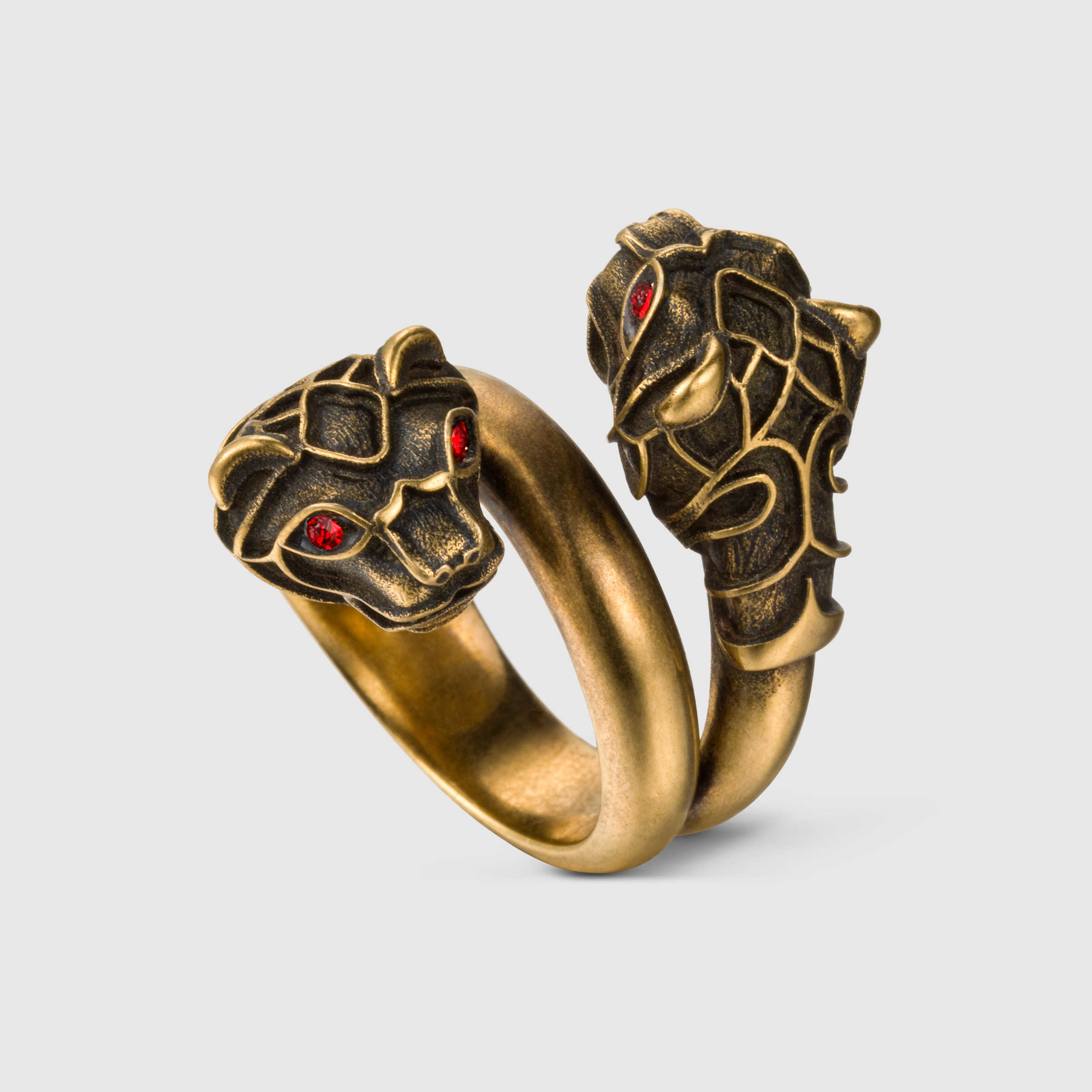 Gucci Tiger Head Ring In Metallic For Men Lyst