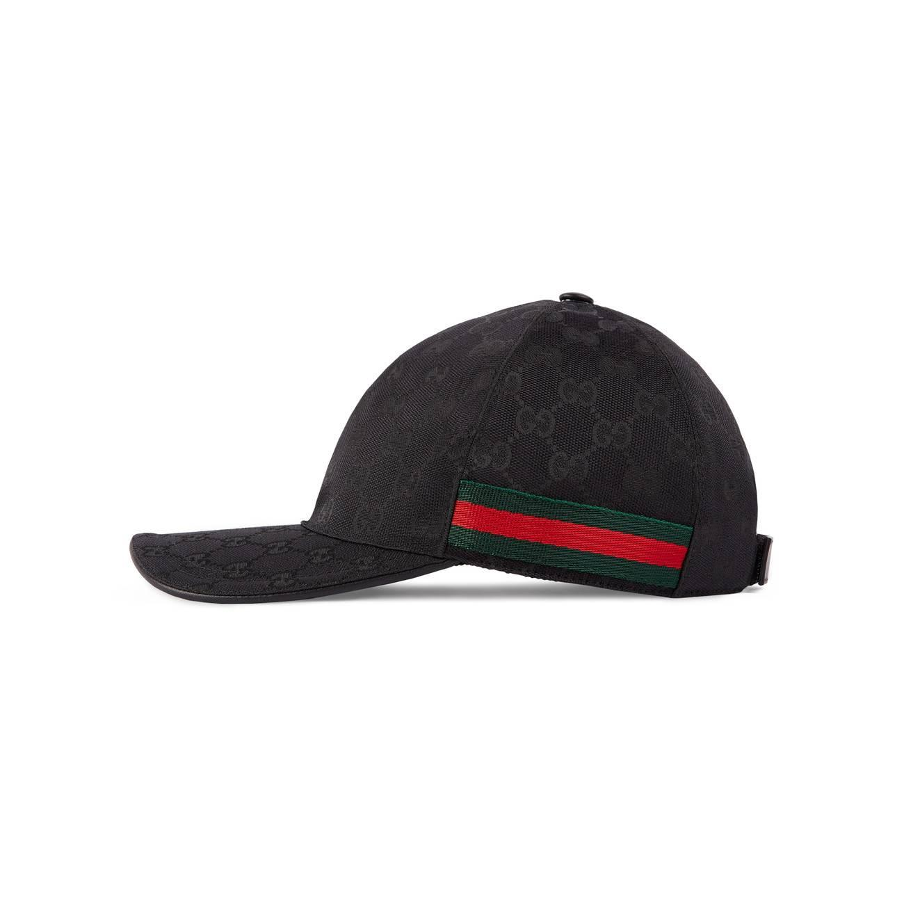 1e84aaa3afe Gucci - Black Original GG Canvas Baseball Hat With Web - Lyst. View  fullscreen