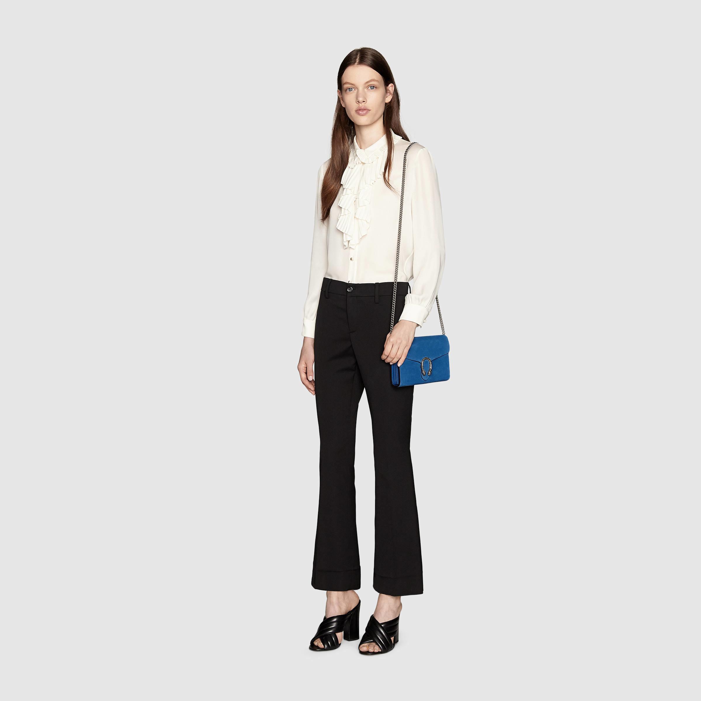3f9606b1c3f Lyst - Gucci Dionysus Suede Mini Chain Shoulder Bag in Blue